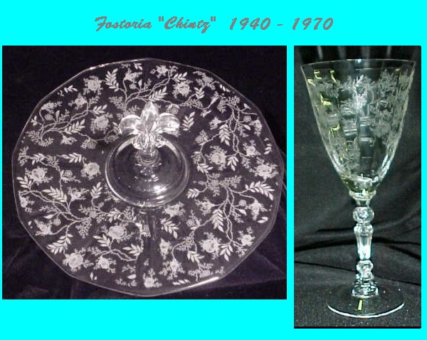 Our House Antiques Etching Identification And Information Page Classy Crystal Patterns Identification