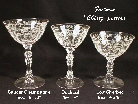 Our House Antiques Fostoria Glass Co Etched Patterns